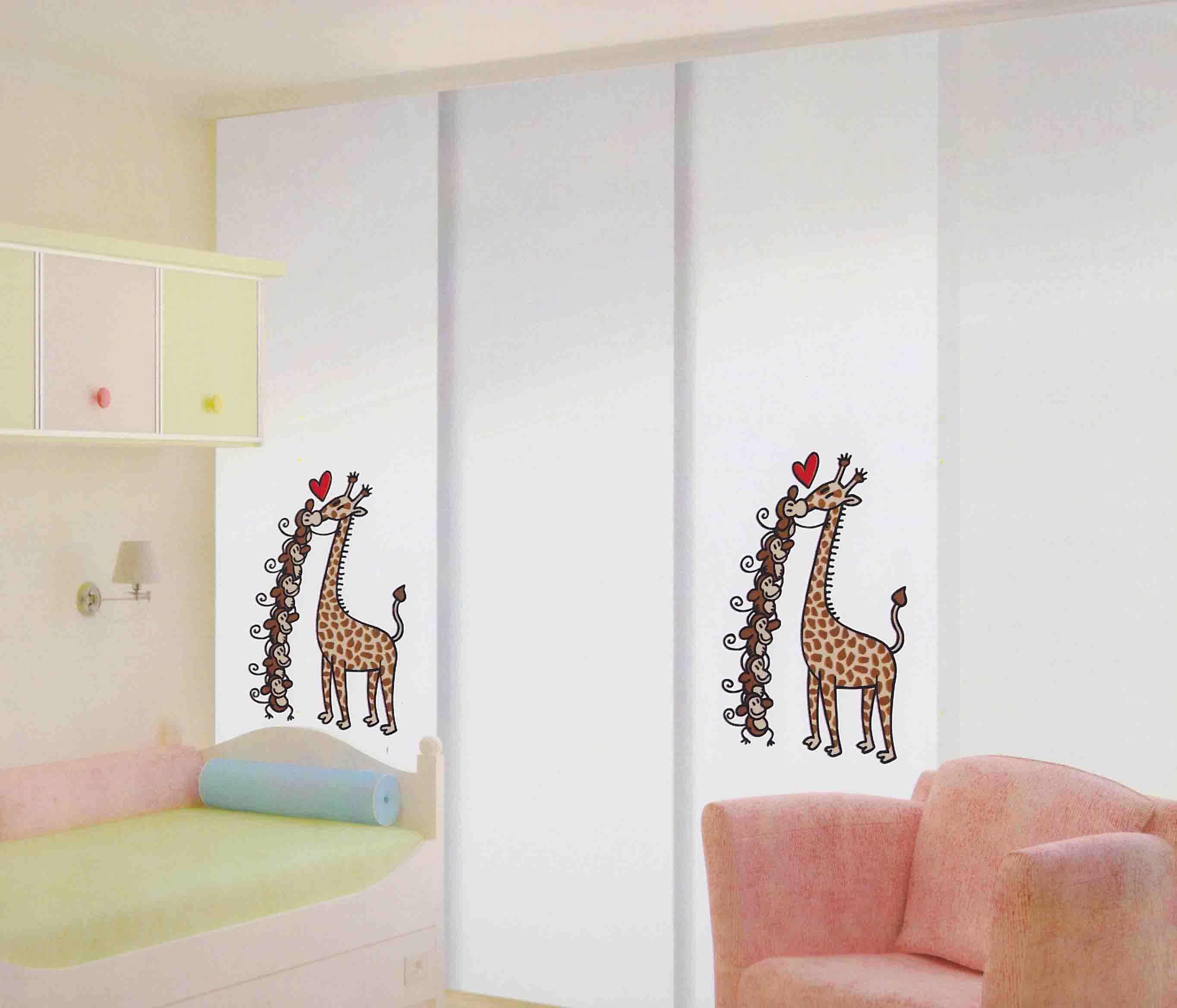 Paneles japoneses dormitorios infantiles hoy lowcost - Estores para habitacion de bebe ...