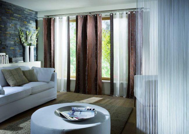Cortinas para ventanas y para separar zonas