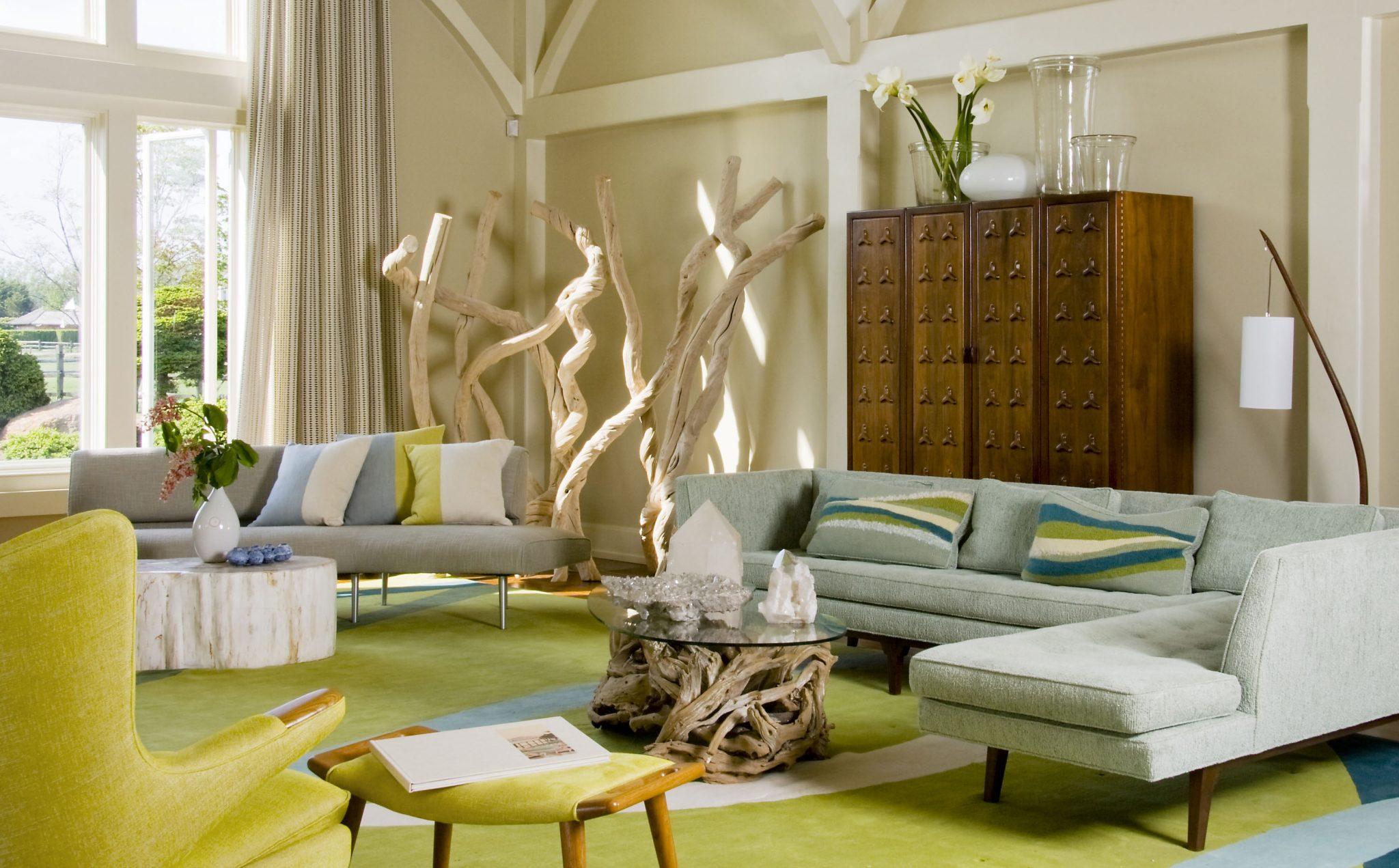 Diseño salon estilo nordico