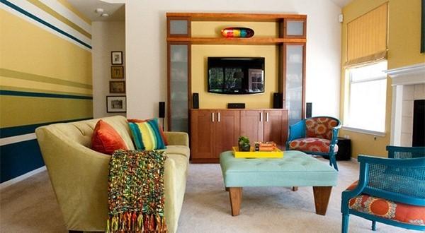 Colores para paredes decoracion salones hoy lowcost - Decoracion paredes salones ...