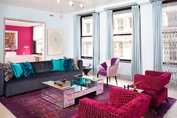 colorido salas de estar modernas