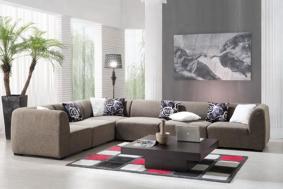 decoracion en gris en salas de estar