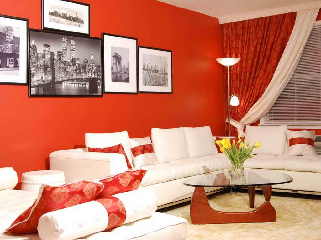 5 ideas para decorar salas de estar modernas hoy lowcost for Decoracion de interiores color rojo
