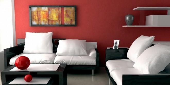 Decoracion de paredes colores sala decorada con colores fuertes paleta colores escaleras - Colores para paredes de salon ...