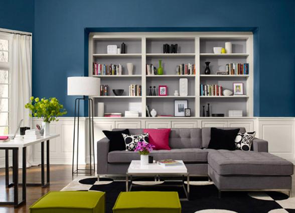 diseño sala de estar pequeña moderna