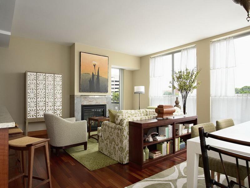 distintos ambientes en sala de estar