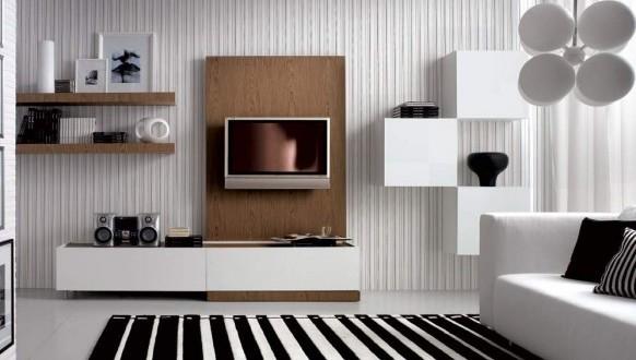 sala de estar blanco ynegro