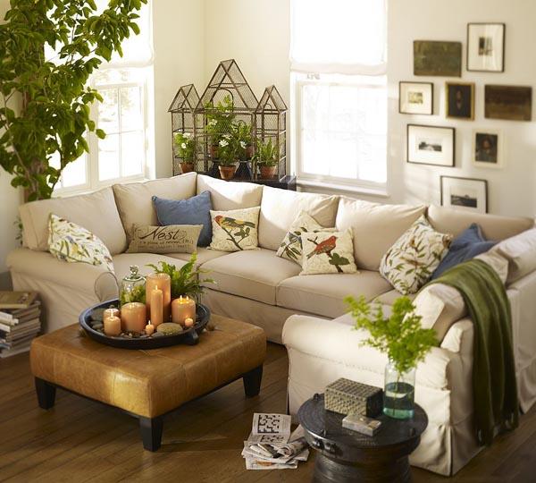 sala de estar sofa central