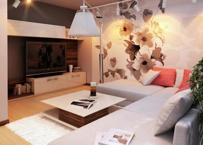sala de estar vinilos paredes