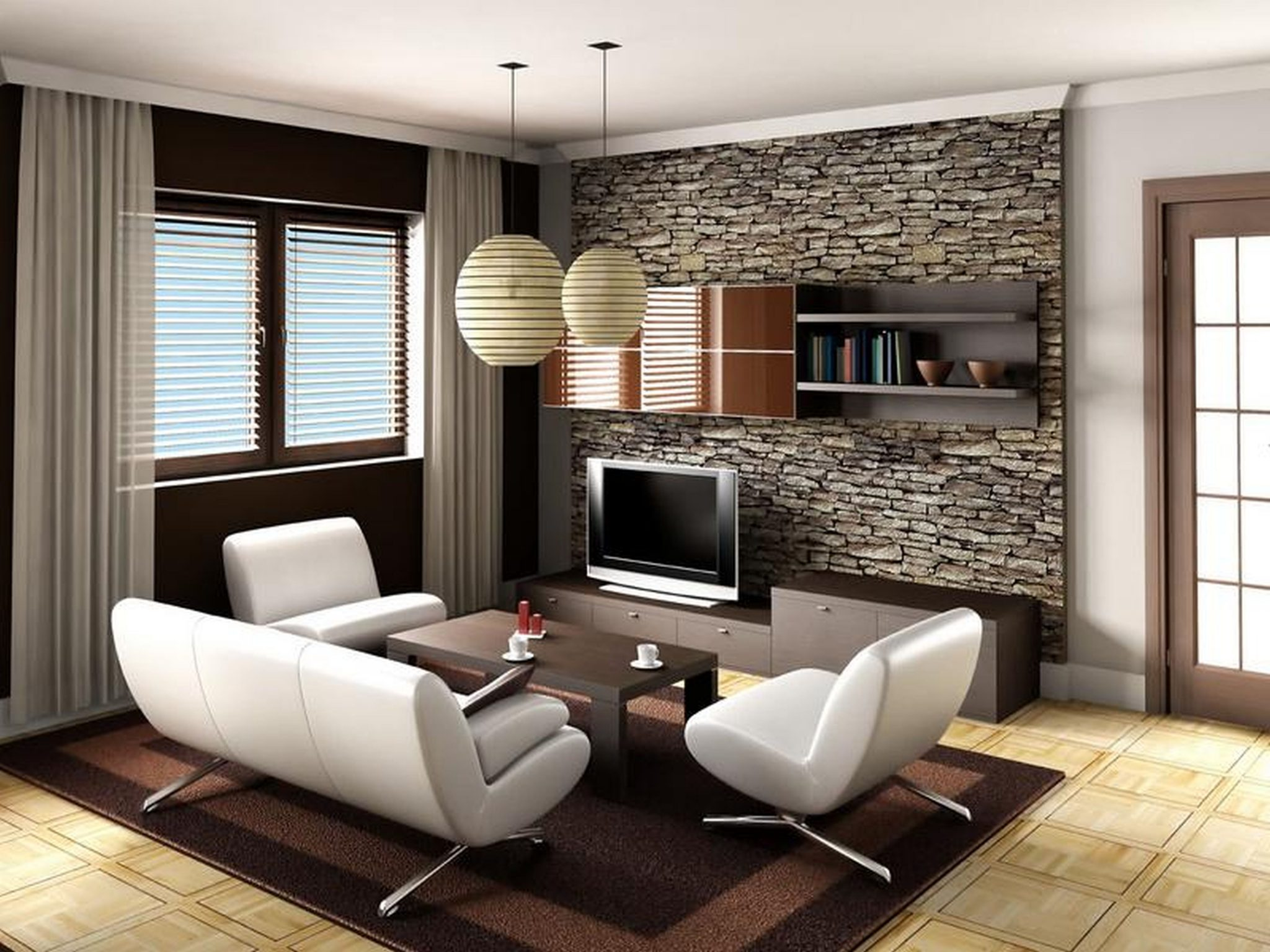 salas de estar moderna y pequeña