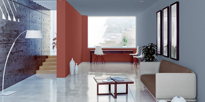 Salon minimalista pintura paredes hoy lowcost - Colores de pintura para salones ...