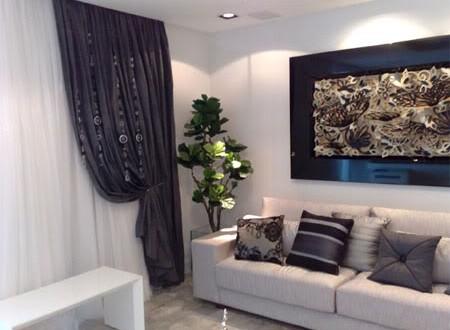 Dise o cortinas salon hoy lowcost for Diseno cortinas salon