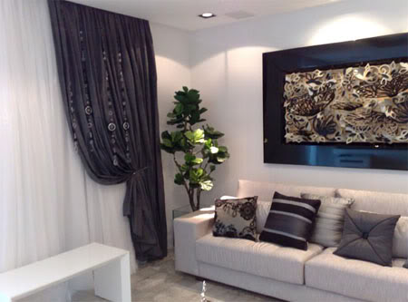 Tipos de cortinas modernas m s elegantes hoy lowcost - Cortinas salon modernas ...