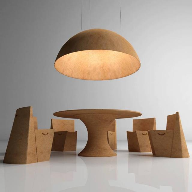 diseño muebles comedor de corcho