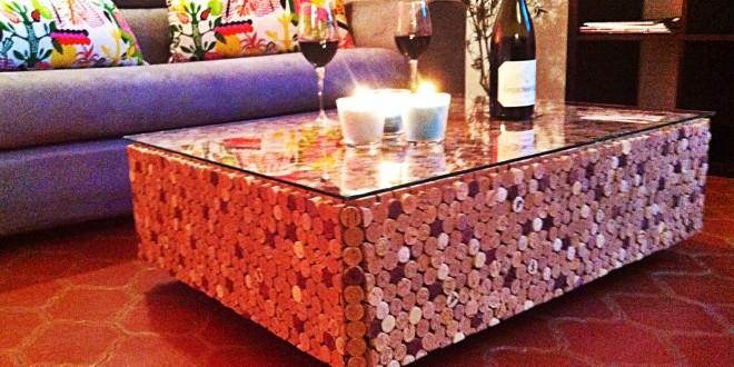 Mesa centro de corcho hoy lowcost - Muebles de corcho ...