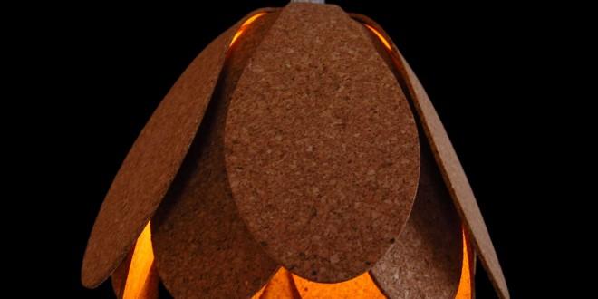 Original lampara de techo de corcho hoy lowcost - Techos de corcho ...