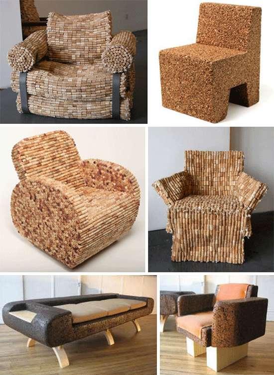 diseño muebles de corcho