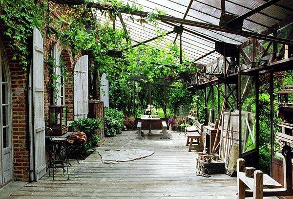 decorar terrazas grandes estilo rustico