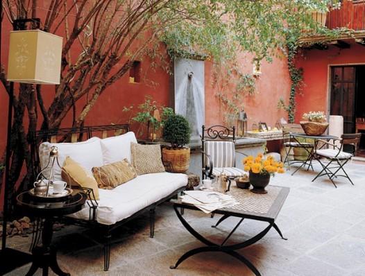 decorar terrazas para reuniones de invierno