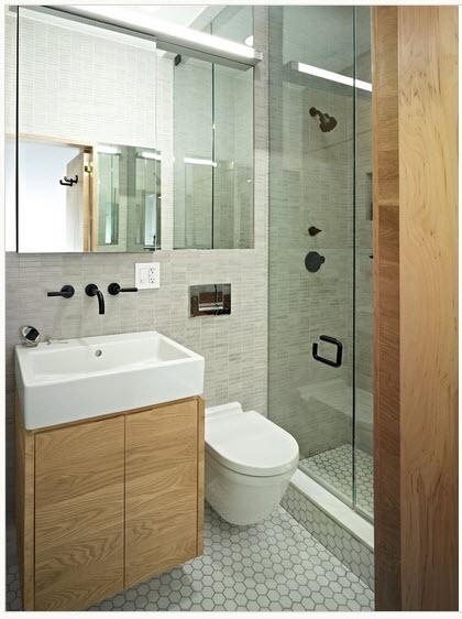 Diseño de baño moderno pequeño