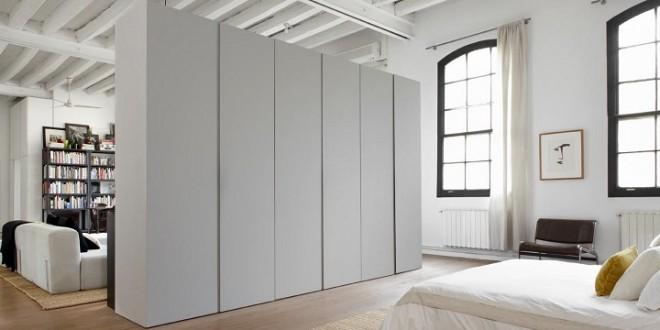 Armarios separadores decoracion loft hoy lowcost for Ideas para separar ambientes pequenos