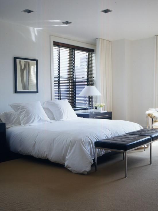 cortina y persina para dormitorio moderno