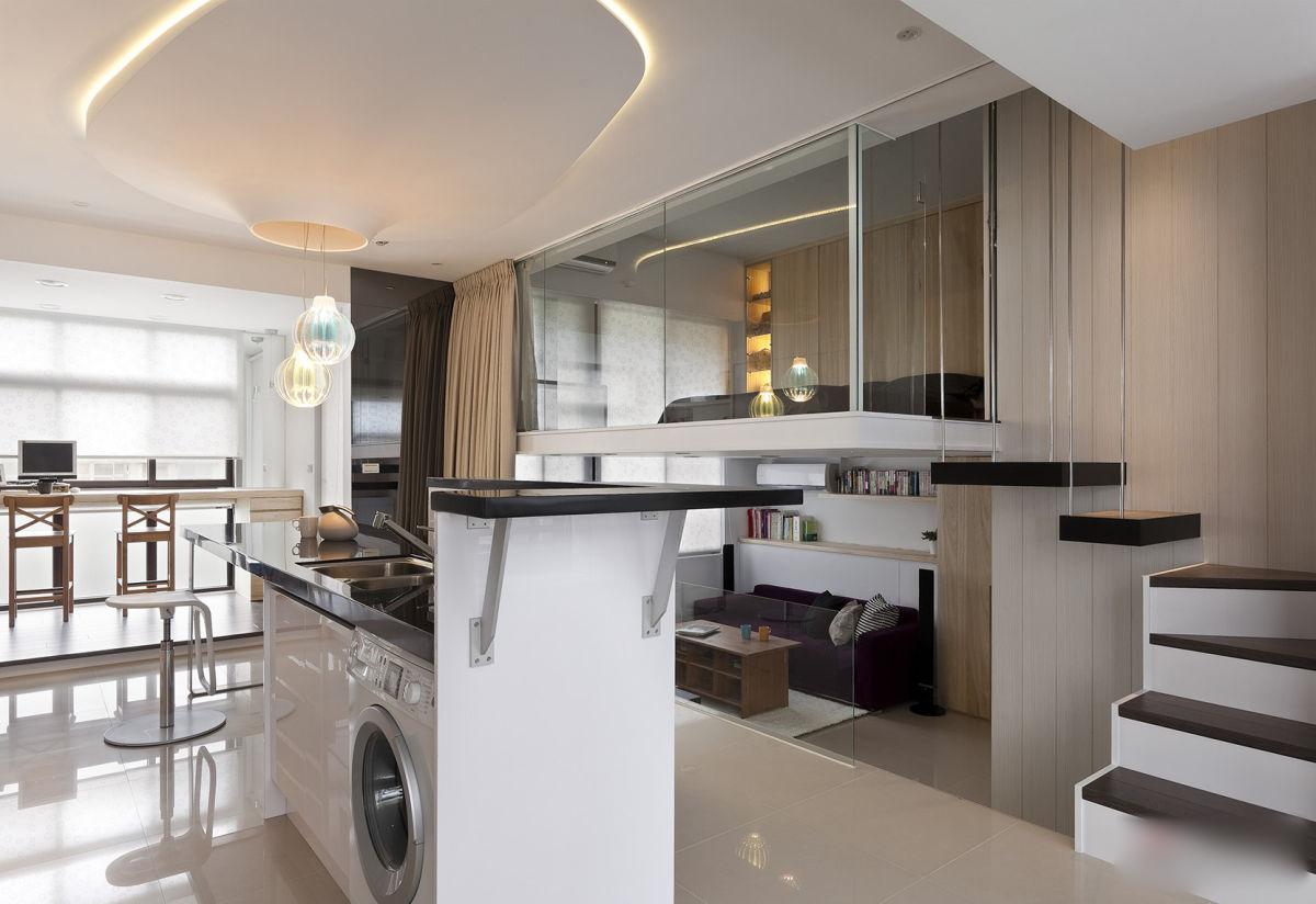 diseño elegante loft minimalista
