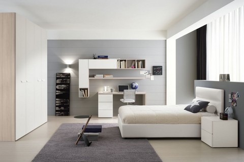 dormitorios con zona de trabajo