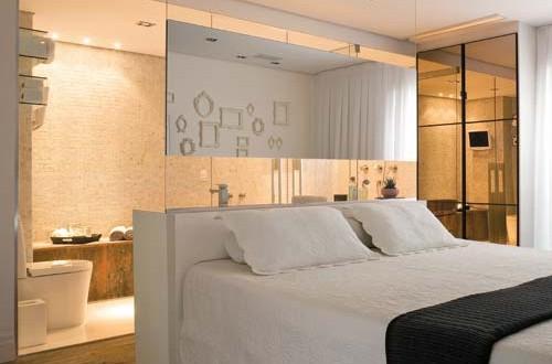 Dormitorio de matrimonio con ba o peque o hoy lowcost - Dormitorio con bano ...