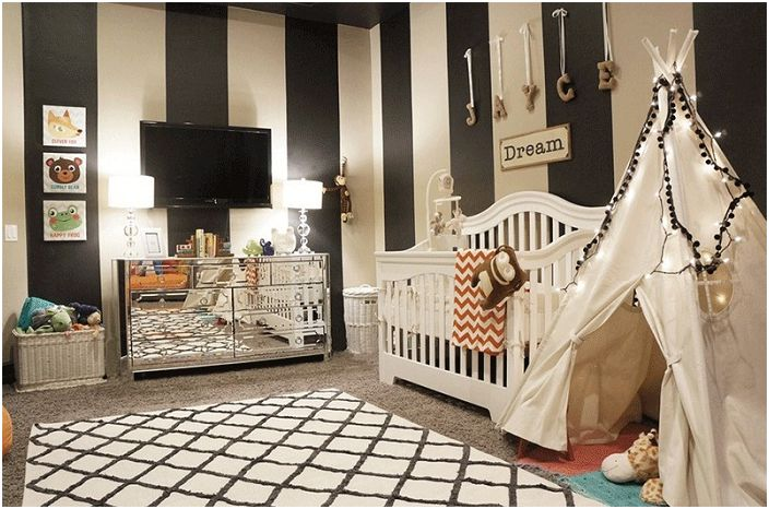 an disponiendo de un gran espacio la decoracin paredes habitacin bebe y la decoracin paredes infantiles debe usarse el color negro con precaucin en