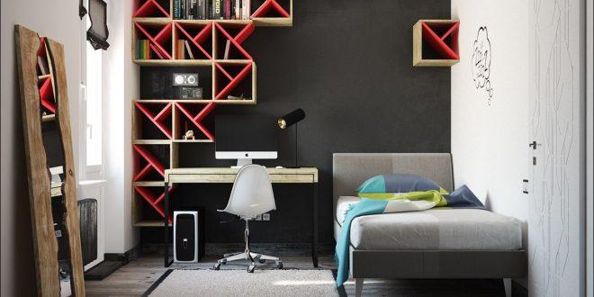 dormitorios juveniles paredes negras