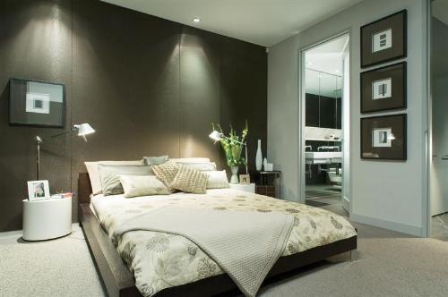 Dormitorios matrimonio modernos date un capricho hoy lowcost - Cuadros de cuarto de bano ...