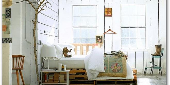 Dormitorios matrimonio con palets hoy lowcost - Dormitorios con palets ...