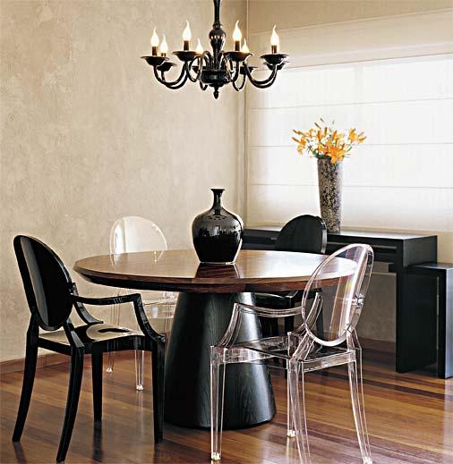 comedor moderno muebles negros