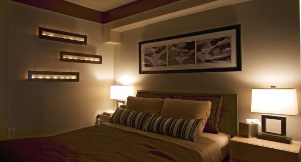 Iluminacion dormitorios matrimonio moderno hoy lowcost - Iluminacion banos modernos ...