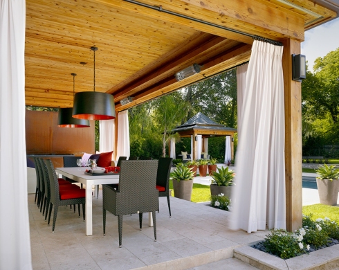 Como decorar terrazas en invierno hoy lowcost - Paredes de patios decoradas ...