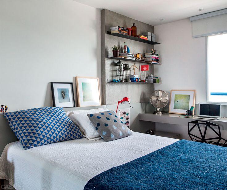 Dormitorios de matrimonio con mesas de estudio hoy lowcost - Como decorar un estudio pequeno ...