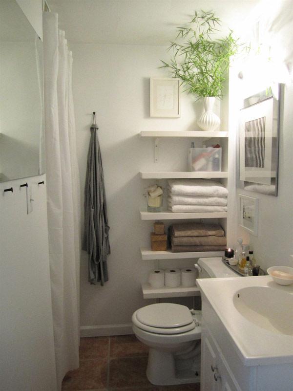 estantes cuartos de baño pequeños