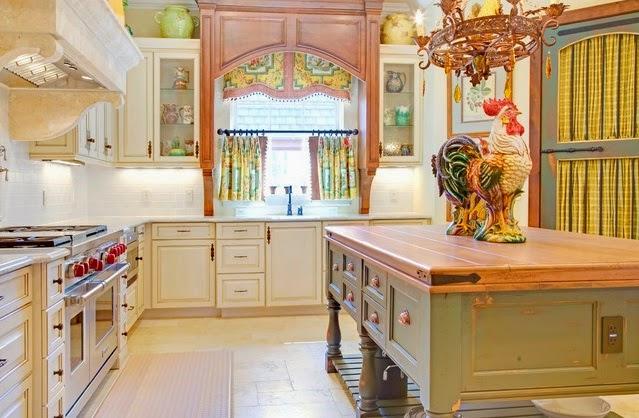 Diseño cortinas cocina rustica original