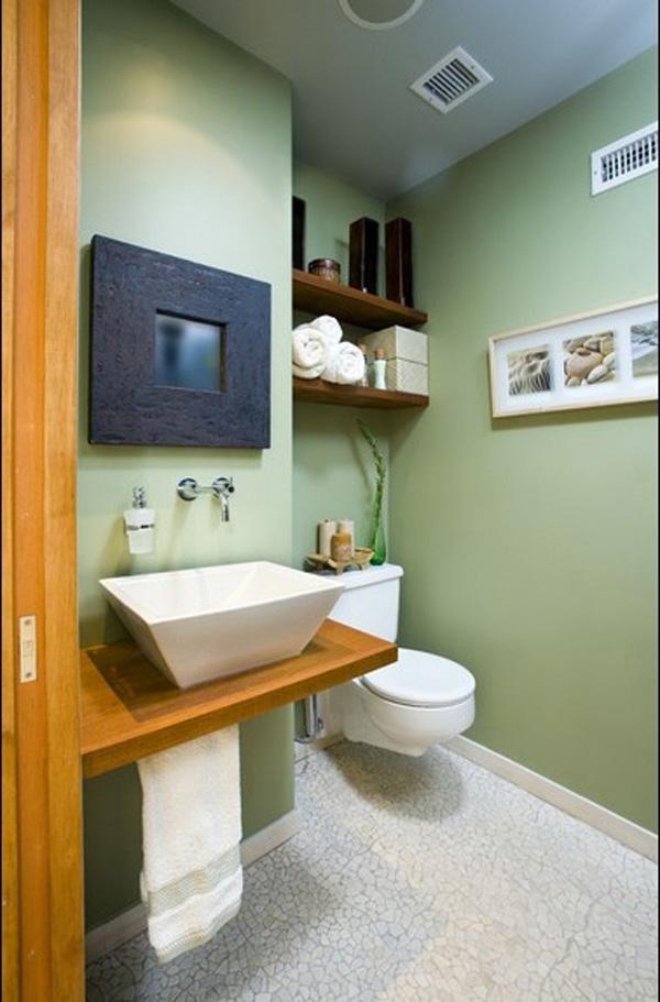 decoración natural baños madera