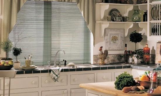 Cobinado persianas y cortinas de cocina hoy lowcost - Persianas de cocina ...