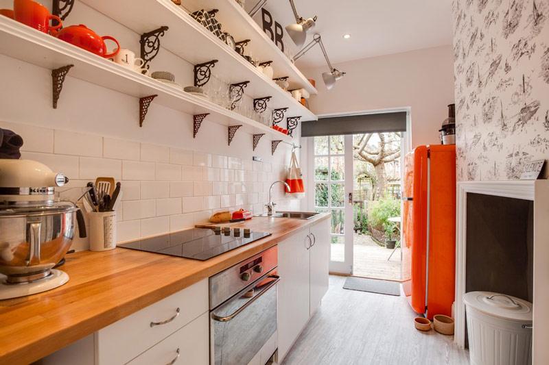 cocina estrecha decoracion