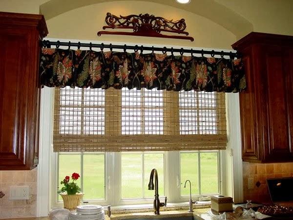 combinado persiana y cortinas cocina 2016