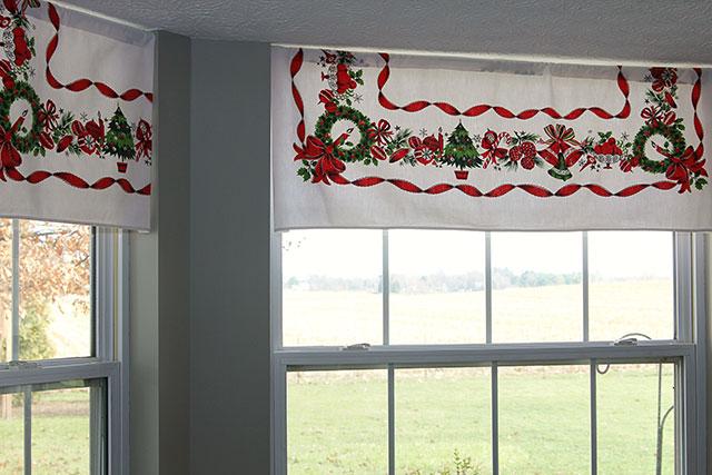 decorar cortinas navidad