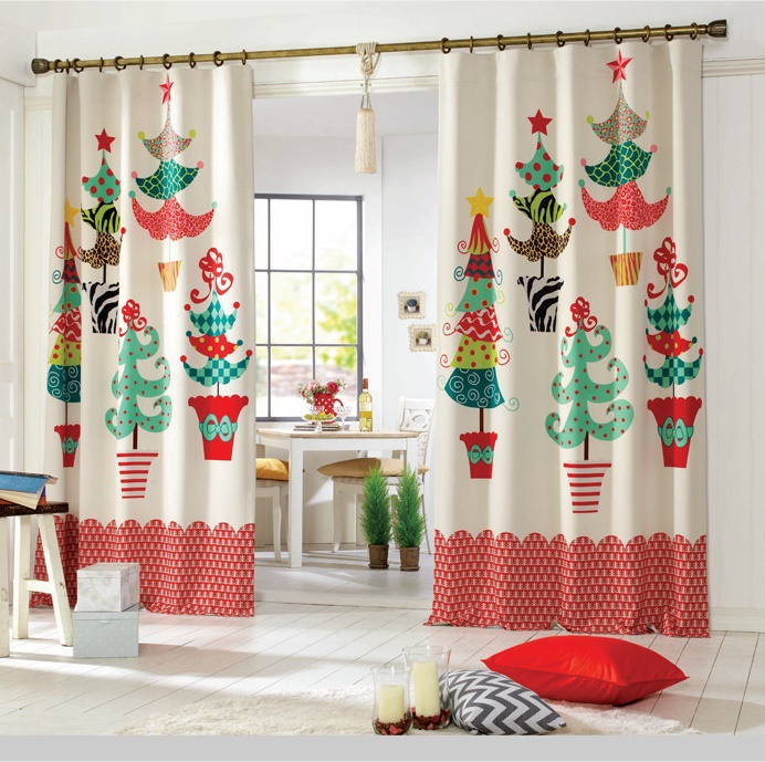Ideas para decorar cortinas en navidad 2016 for Ideas de cortinas de cocina
