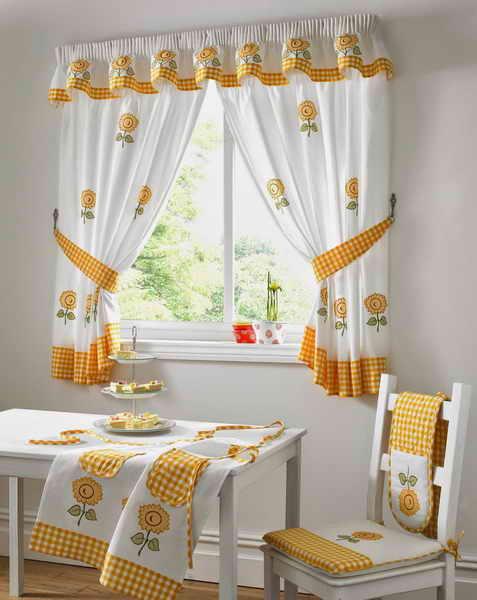 Como elegir las cortinas de cocina 2018 hoy lowcost for Cortinas amarillas