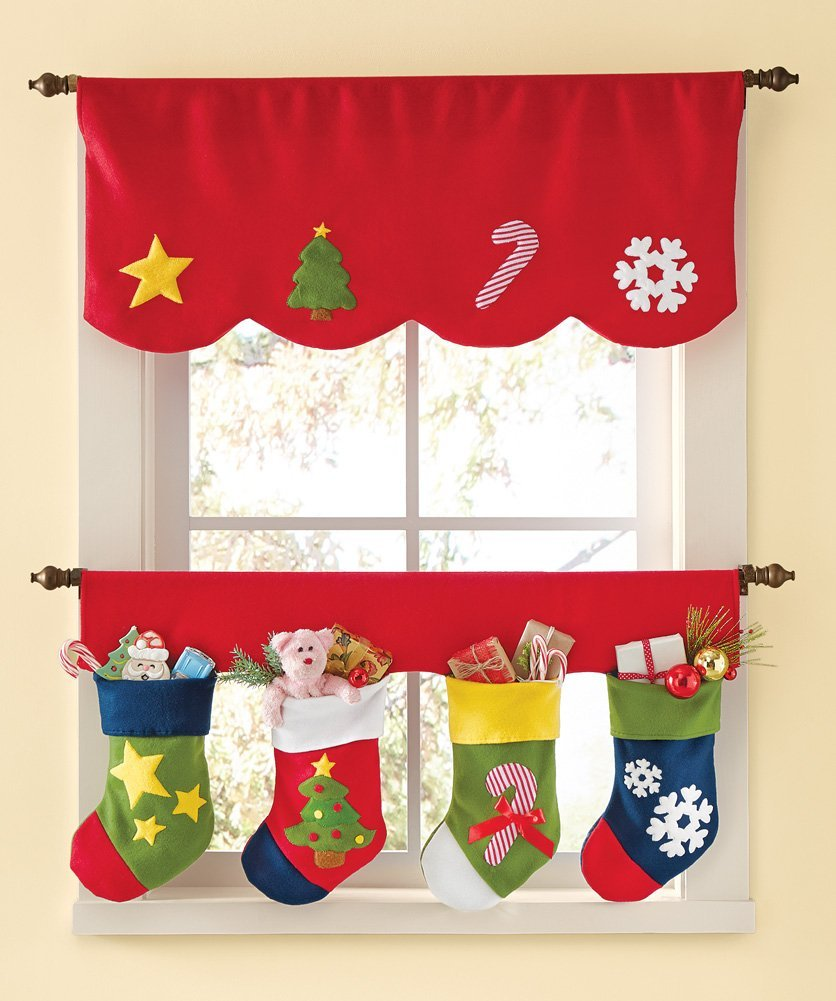 Ideas para decorar cortinas en navidad 2016 for Ideas para christmas de navidad