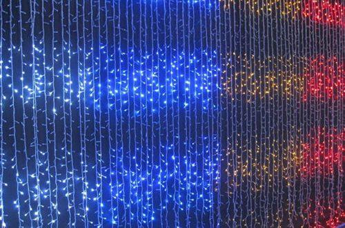 Cortinas para navidad luces led hoy lowcost - Cornisa para led ...