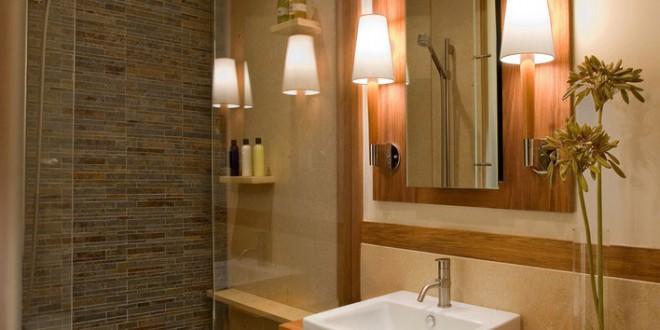 7 ideas para decorar cuartos de ba o modernos hoy lowcost - Alicatar cuarto de bano ...