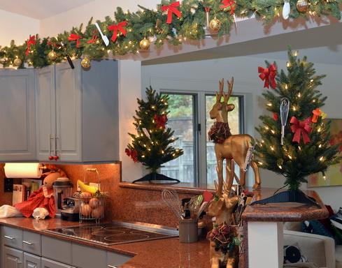 Como decorar una cocina en navidad en 2016 for Decoracion navidad